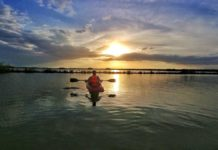 Kajaktour und Paddeln auf der Laguna Bacalar, Yucatan-Halbinsel