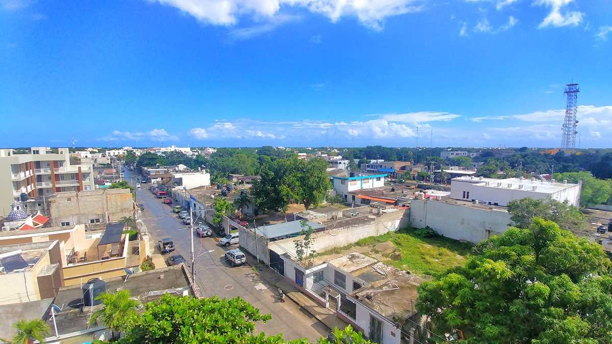 Ausblick auf das beliebte Tulum auf der Yucatan-Halbinsel in Mexiko