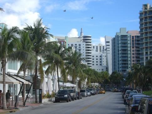 Der Ocean Drive, Flaniermeile und Promenade von Miami Beach