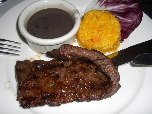 Leckeres Steak am Ocean Drive
