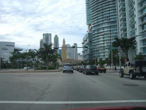 Fahrt nach Downtown Miami