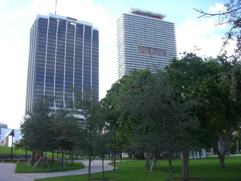 Der Bayfront Park in Miami Downtown
