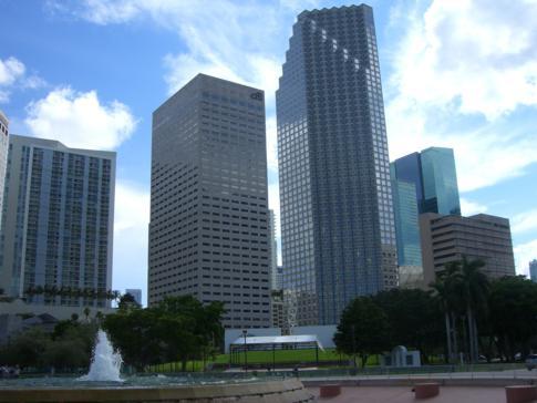 Der Bayfront Park in Miami Downtown