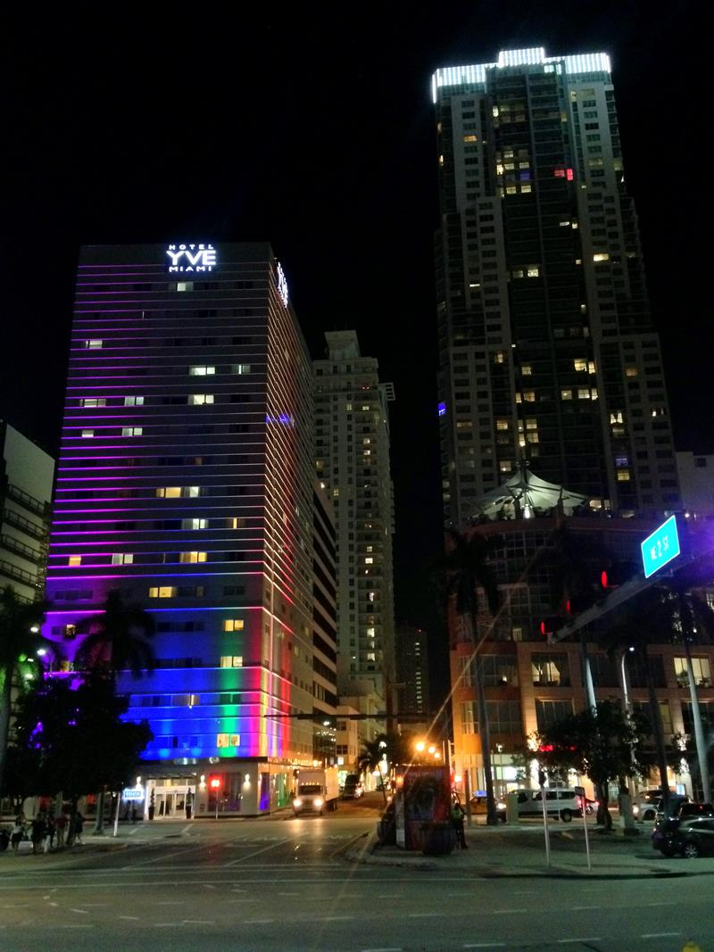 Miami Downtown bei Nacht