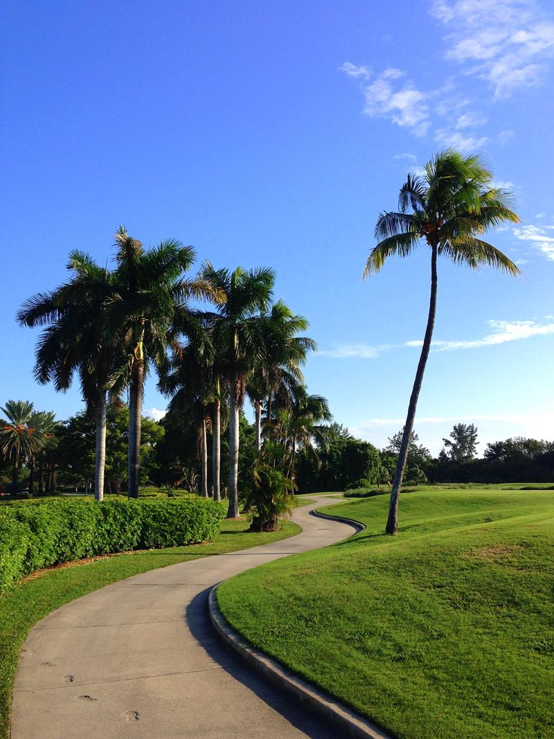 Der Golfkurs des Miami Beach Golf Club