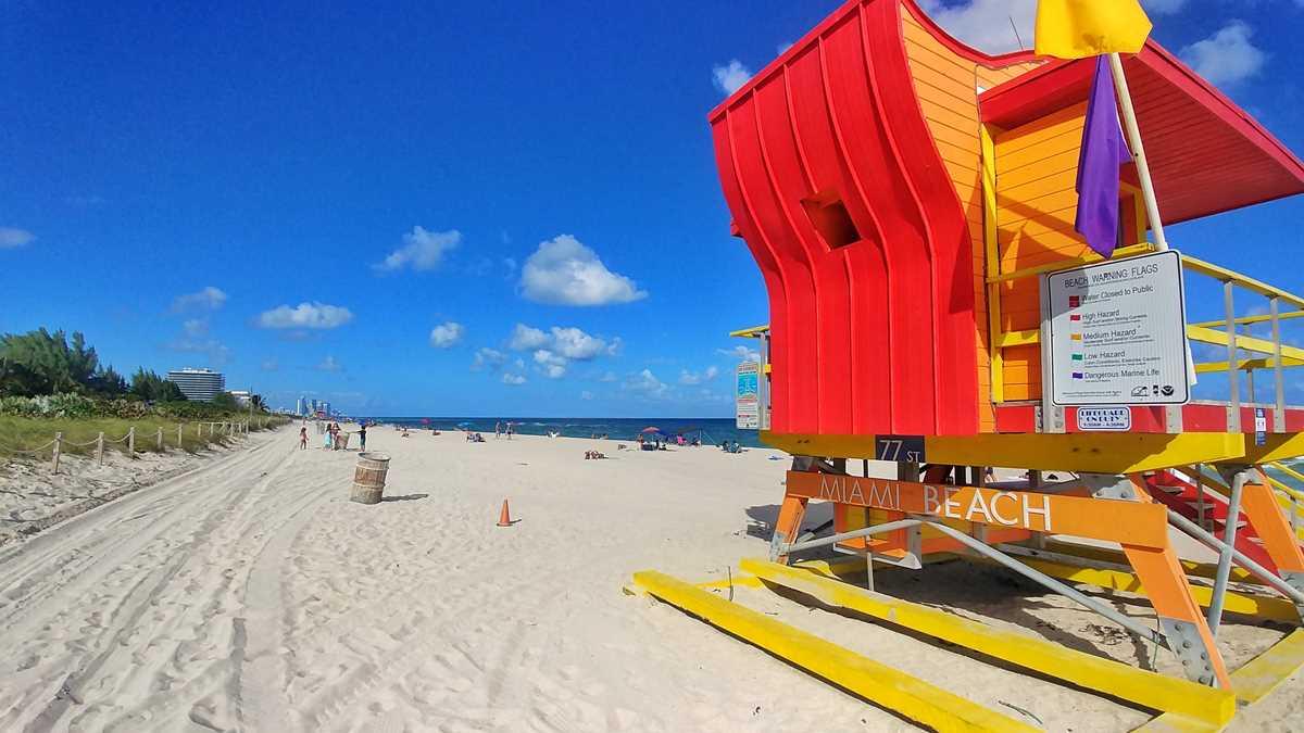 Miami Beach, ein schöner und langer Strand direkt in Miami