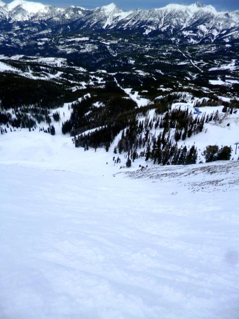 Der fantastische Headwater Bowl in Big Sky - eines der tollsten Reviere im Skigebiet