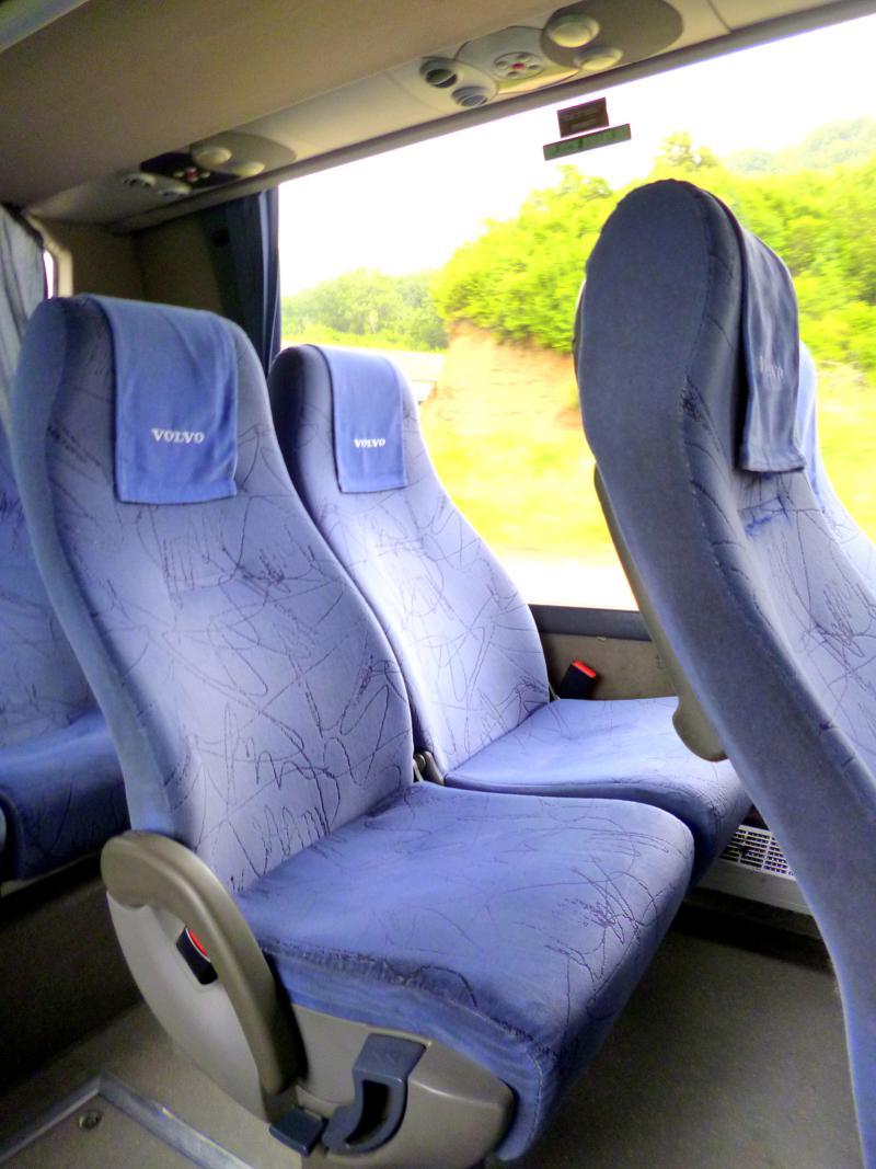 Unser Bus auf der Fahrt von Dubrovnik nach Budva