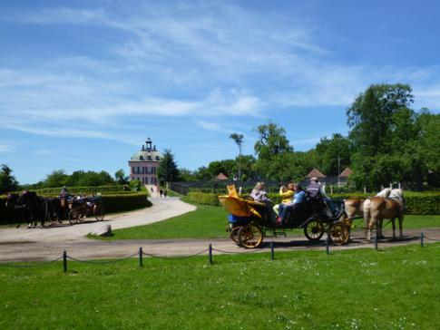 Blick auf die Fasanerie und das Fasanenschlösschen in Moritzburg