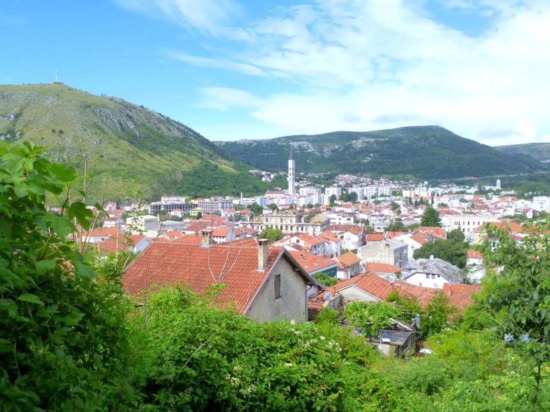 Blick auf Mostar in Bosnien-Herzegowina
