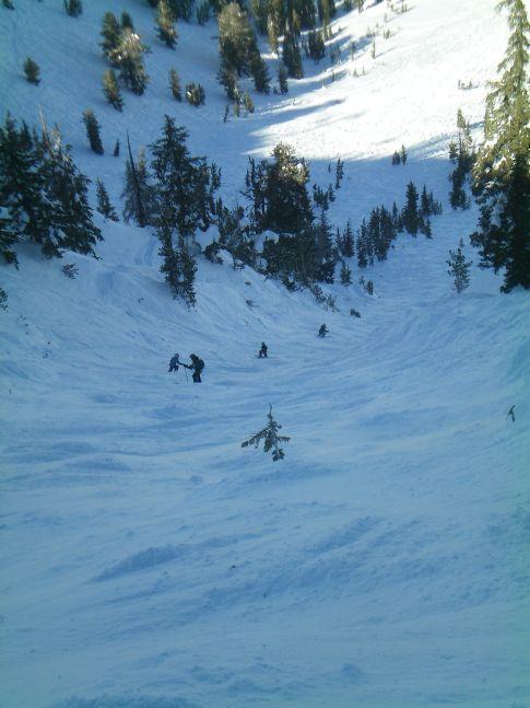 Die steilste Piste? El Cap am Mount Rose