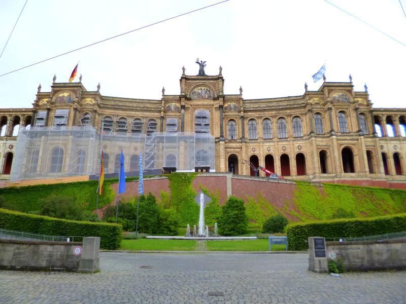 Der bayerische Landtag in München