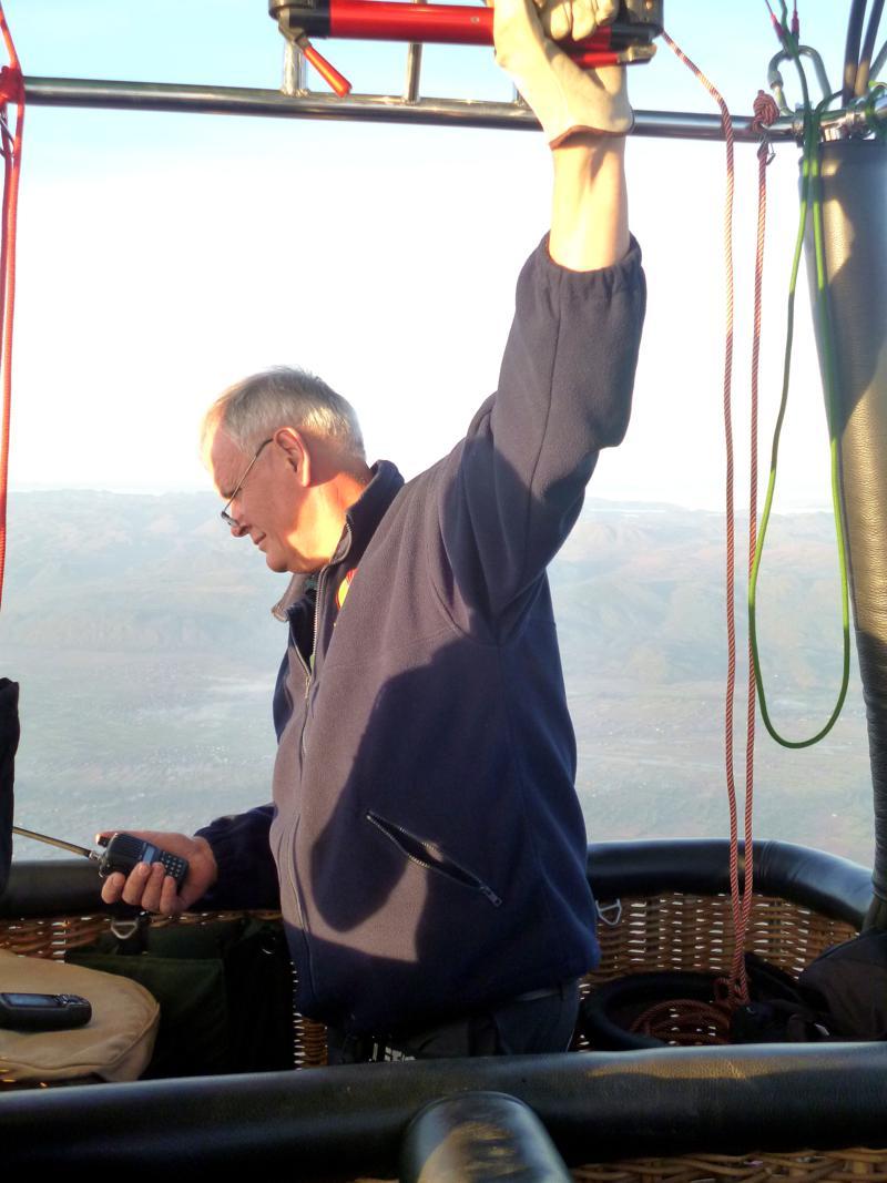 Captain Bill bei der Arbeit