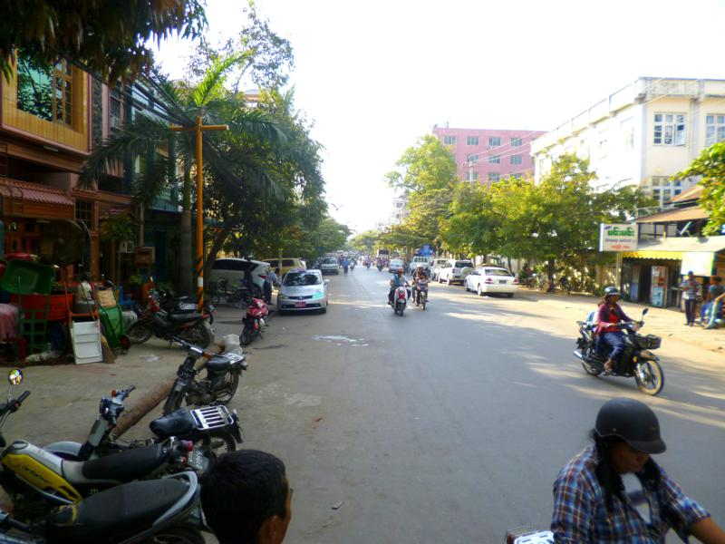Stadtleben in Mandalay, der zweitgrößten Stadt in Mandalay