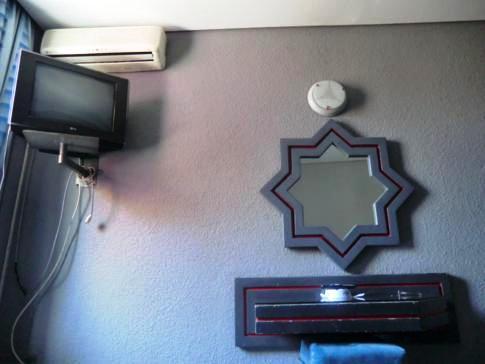 Unser Doppelzimmer im La Giralda in Nador, Marokko