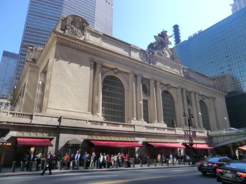 Außenansicht der Grand Central Station, dem Hauptbahnhof von New York