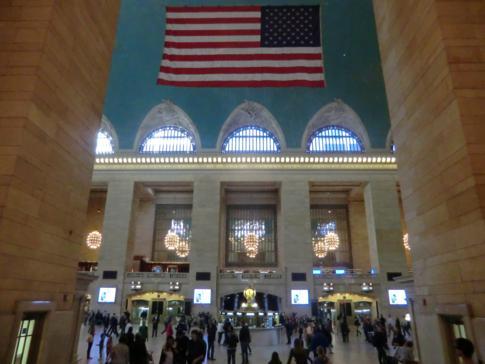Prunkvolles Inneres der Grand Central Station, dem Hauptbahnhof von New York