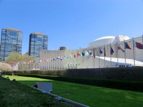 Das Hauptquartier der Vereinten Nationen in Midtown Manhattan