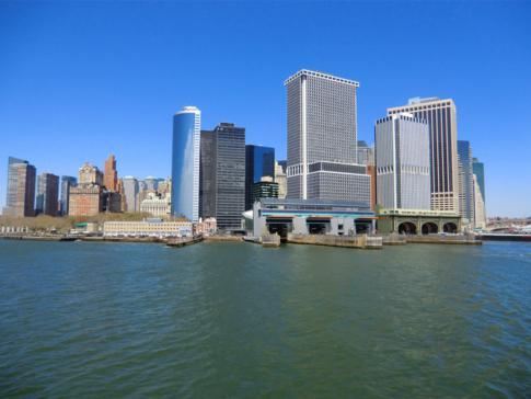Die Skyline von Manhattan - eine tolle Aussicht von der Staten Island Ferry
