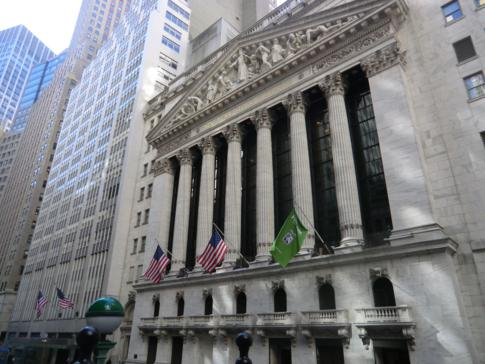 Die New York Stock Exchange an der Wall Street