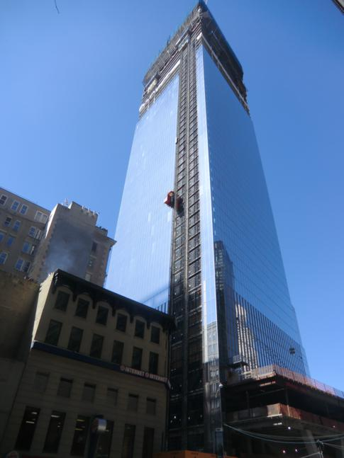 Eines der neuen World Trade Center am Ground Zero in Manhattan