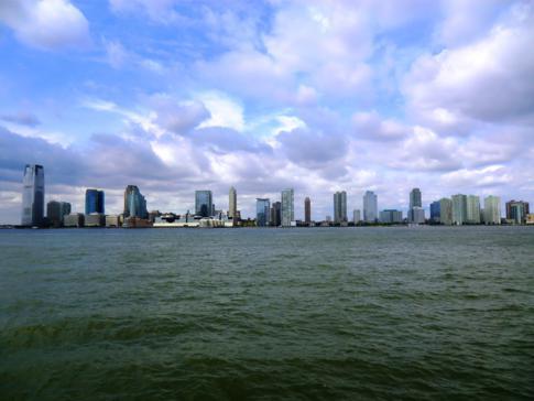 Blick auf New Jersey über den Hudson River