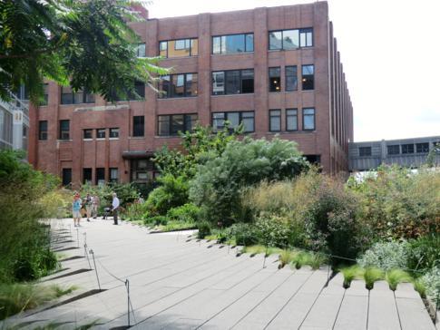 Toller Spaziergang im High Line Park mit interessanten Blicken auf das Leben in New York