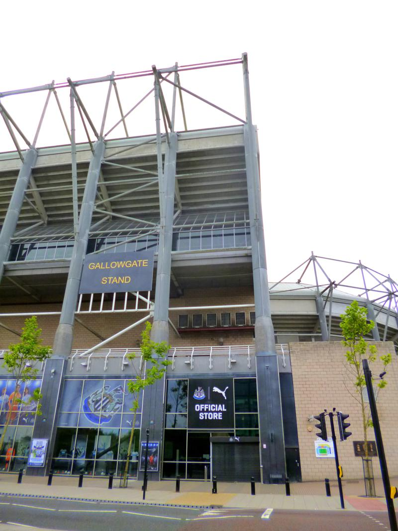Der St. James Park in Newcastle, das Stadion von Newcastle United