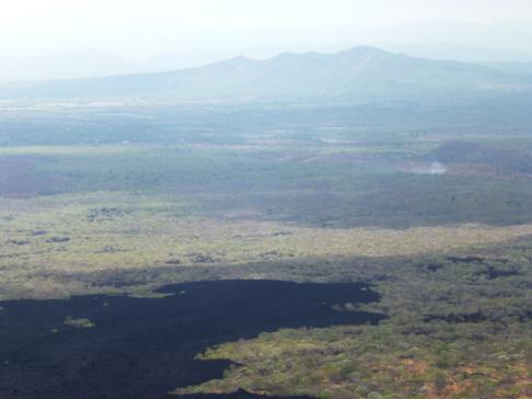 Tolle Ausblicke vom Cerro Negro, einem Vulkan nähe Leon