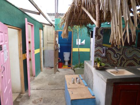 Gemeinschaftssanitäranlagen im Bigfoot Hostel