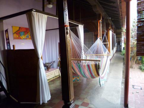 Entspannte Lounge im Hostal El Momento