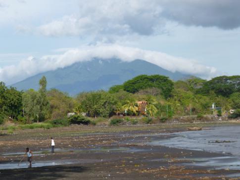 Blick auf den Madera von San Juan del Sur