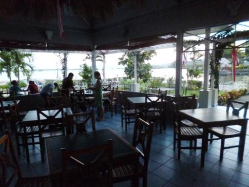 Das Iguana Restaurant in einer Seitenbucht des Nicaragua-Sees