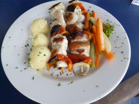 Sehr leckeres Essen im Iguana Restaurant in Granada
