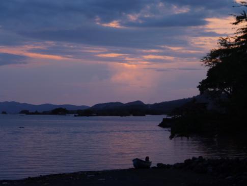 Traumhafter Sonnenuntergang nicht nur in der Karibik, sondern auch in Nicaragua
