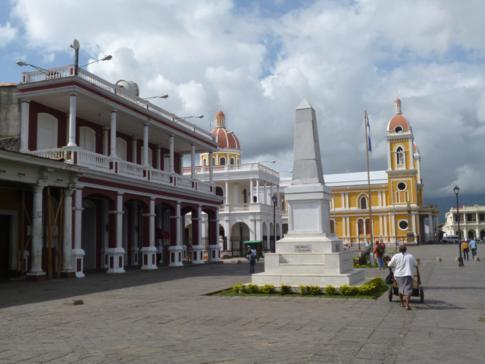 Der Plaza de la Independencia, zentraler Platz in Granada, Nicaragua