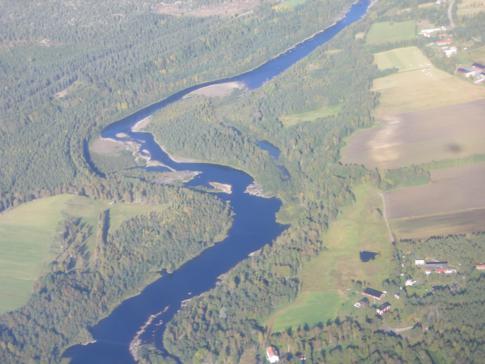 Blick während des Flugs mit Norwegian auf Nordschweden