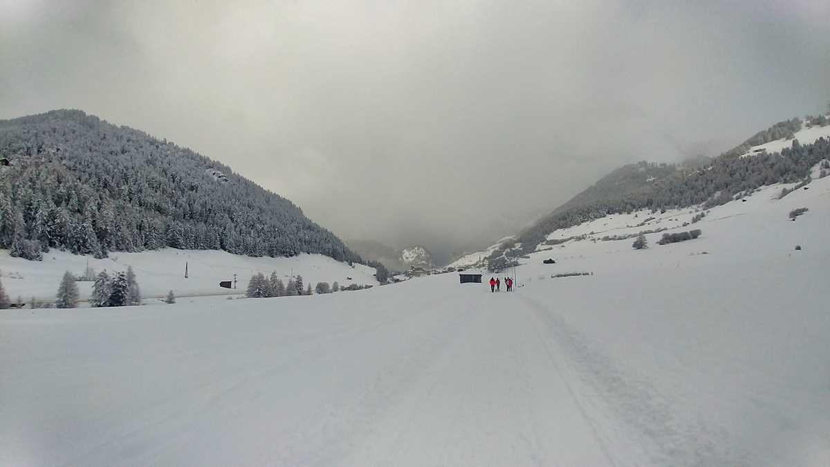 Der Ferienort Nauders in Österreich im Winter