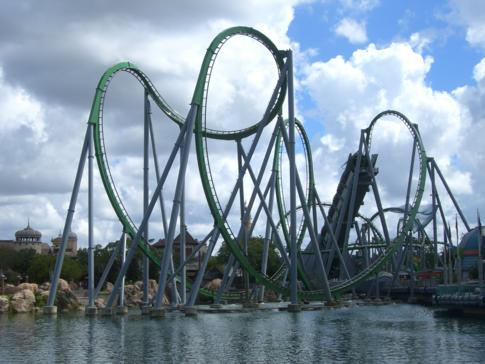 The Incredible Hulk Coaster im Islands of Adventure