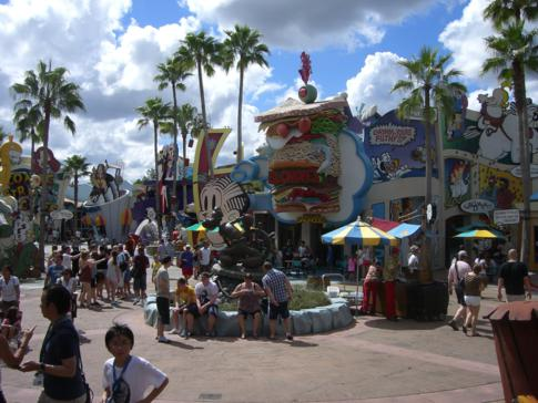 Die Themenwelt Toon Lagoon im Islands of Adventure