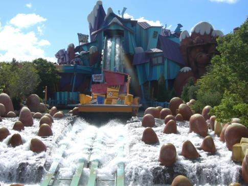 Dudley Do-Rights Ripsaw Falls in Orlando, Florida