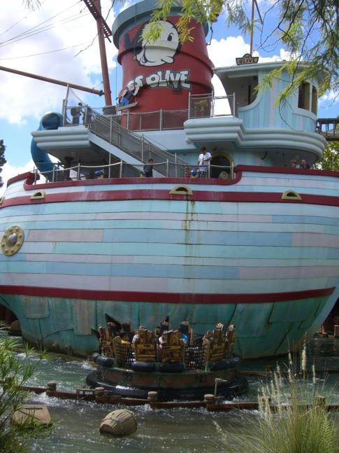 Das kleine Beobachtungsschiff Me Ship The Olive
