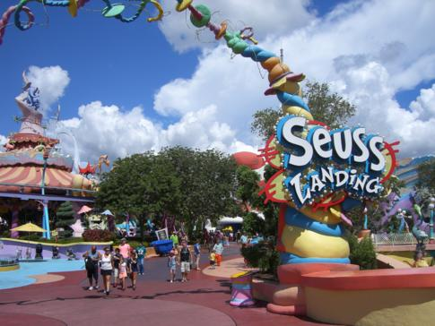 Die Kinderwelt Seuss Landing im Freizeitpark Islands of Adventure