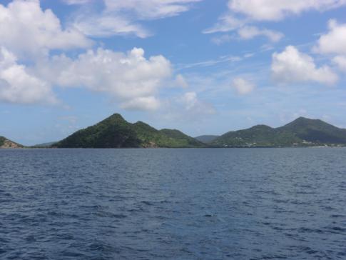 Blick von der Osprey Ferry auf Carriacou