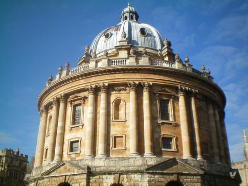 Die Bodleian Library in der Radcliffe Camera
