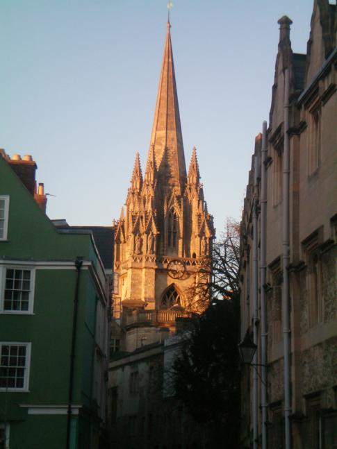 Abendlicher Blick auf die Church St. Mary the Virgin