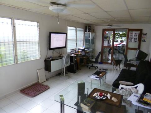 Das Wohnzimmer im Hostal Aleman in Panama City