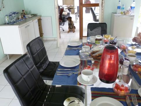 Klassisches deutsches Frühstück in Panama City