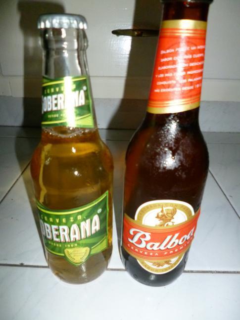 Panamesisches Bier nach der Ankunft: Cervana und Balbao