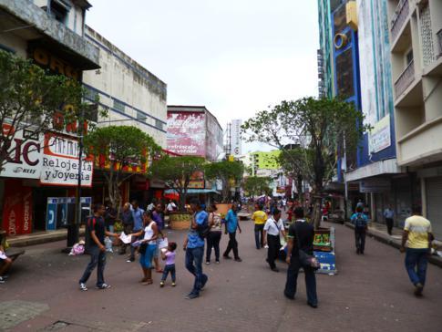 Die zentrale Fußgängerzone von Panama City